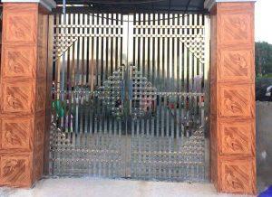 Mẫu cổng inox 2 cánh đẹp mới nhất hiện nay