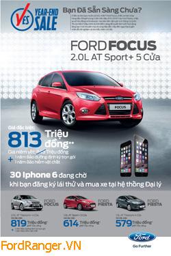 Đăng ký lái thử xe Ford Fiesta và Ford Focus có cơ hội trúng 30 Iphone 6