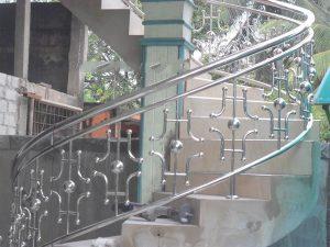 Mẫu lan can cầu thang inox đẹp