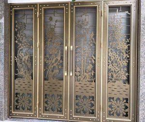 Mẫu cửa cổng sắt CNC nghệ thuật đẹp