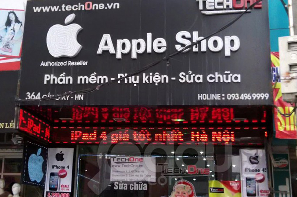 Mẫu biển quảng cáo cửa hàng điện thoại đẹp