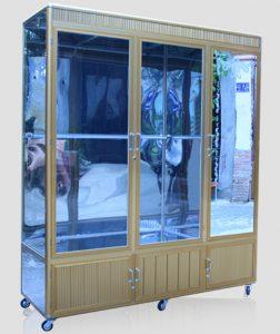 Mẫu tủ nhôm kính đựng quần áo đẹp