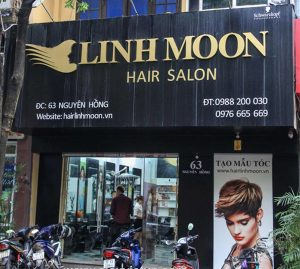 Mẫu biển quảng cáo cửa hàng làm tóc nail
