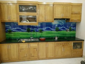 Mẫu kính ốp bếp hoa văn kính ốp bếp 3d đẹp