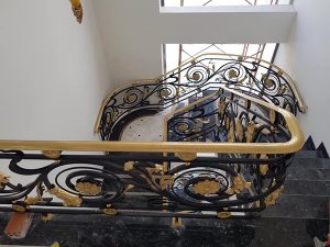 Mẫu lan can cầu thang sắt nghệ thuật đẹp